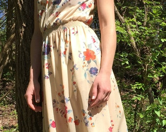 XS 80s dress with elastic waistband