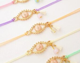Evil Eye Bracelet ~ Evil eye jewelry, Evil eye charm, Lucky charm bracelet , Evil eye gift, Evil eye string bracelet, Eye bracelet, Evil eye