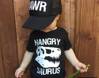 Hangry shirt | Dinosaur shirt | Hangry saurus shirt | Funny kid shirts | Trendy boy shirt | T-rex shirt | Hungry shirt | Feed me shirt