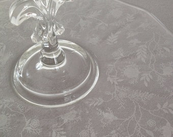 Vintage cookie plate,Tidbit Tray,Sandwich Plate,Glass,Fleur De Lis,Center-Handled Server.Etched Design,Shower,Tea Party,Wedding,Plate,Tray