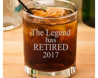 Retirement Gift for Man, Retirement Gifts, The Legend Has Retired, Coworker Retirement, Retirement for Him, Boss Retirement, Dad Retired