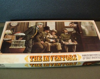 The Inventors 1974 Parker Brothers Game of Crazy Inventions Complete Vintage Family Board Game
