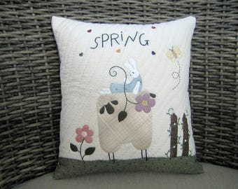 Cushions: Gifts, Gifts for Her, Gifts for Girls - Spring Sheep Cushion