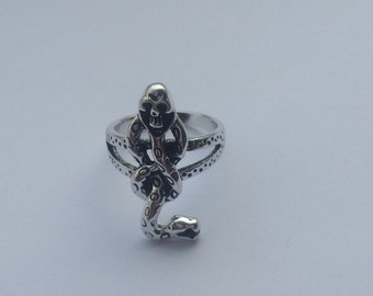 Voldemort snake ring antique silver