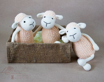 Baby toys Crochet toy Amigurumi Knitted toy Knitted Lamb Crochet Sheep Ewe Baby gift soft toy Stuffed toy Sheep nursery decor