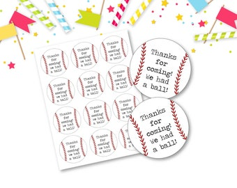Baseball Favor Tags -  INSTANT DOWNLOAD - Birthday Party, Baby Shower