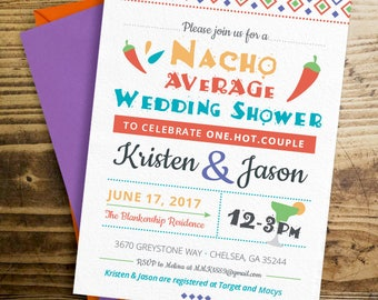 Nacho Average Wedding Shower, Couples Shower Fiesta, Nacho Average Bride Invitation