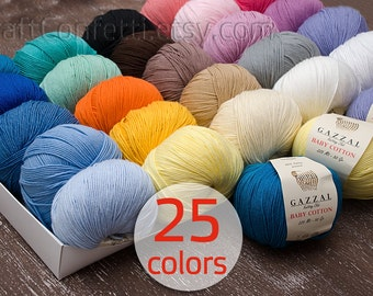 Baby cotton yarn Crochet yarn Soft cotton yarn Knitting supplies Quality yarn Crochet cotton yarn Knit yarn Baby clothes Baby yarn 50g ball