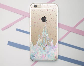 Disney Castle Clear Case iPhone 7 Samsung Edge Case iPhone 6 Plus Case Galaxy S8 Case Disney iPhone Case Clear Galaxy Case LG G4 Case OC_083