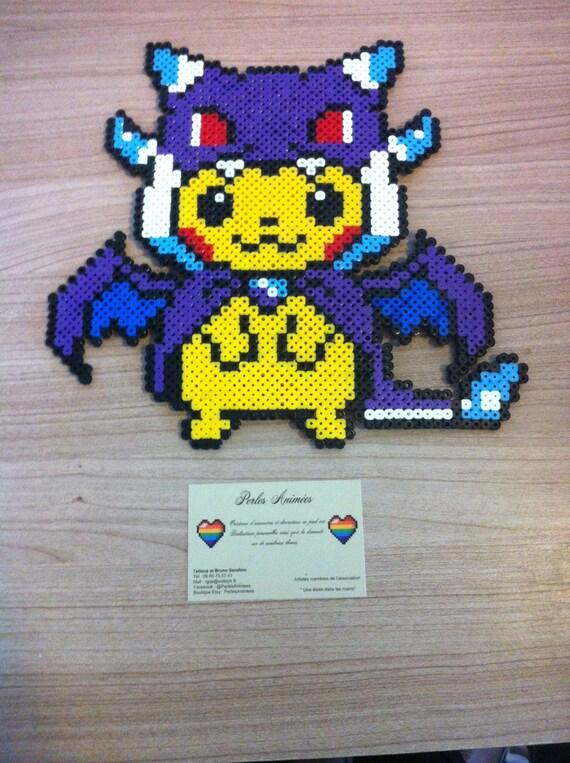 pixel art perler beads pikachu costum233