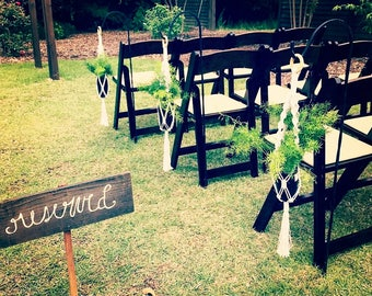 Macrame Wedding Isle Markers