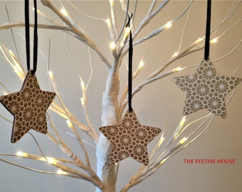 Wooden Star Christmas Tree Decoration