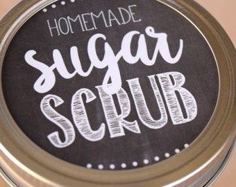 Sugar Scrub Label | Printable | Chalkboard | Mason Jar