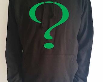 """Batman villain """"The Riddler"""" question mark adults hoodie"""