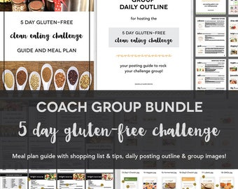 Coach Group Bundle : 5 Day Gluten-Free Clean Eating Challenge