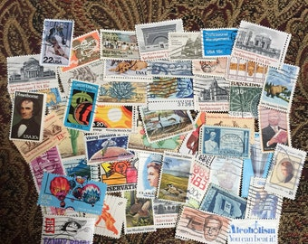 Lot of 50 All Different U.S. Commemerative Stamps