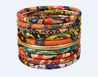 Set of 10 Bracelets St. Louis (wax and gold)