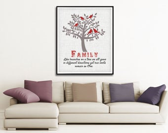 Family Quote Print - Family Print - Life Quote - Custom Family Decor - Family Wall Art - Living Room Decor - Positive Quote