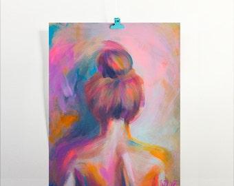 Wall Art Print  |  Top Knot