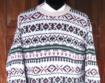 XL Cotton Ski Sweater - Made in USA