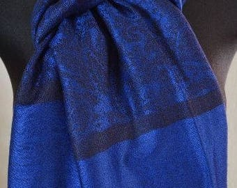 Pashmina Scarf Shawl for Women Royal BLUE / BLACK