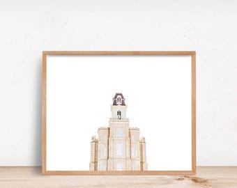Manti Utah Temple White