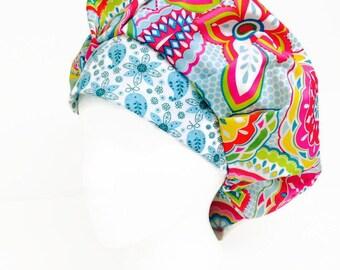 Turquoise  Bodilla Bouffant Scrub Hat, Scrub Cap, ORHats, Surgical Scrub Cap, ORHatsByBonita, Scrub Hats for Women