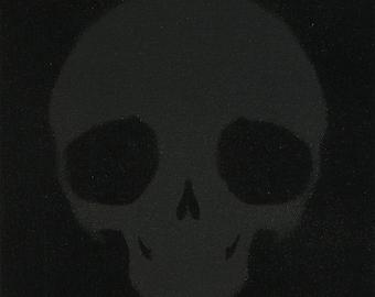 Black Skull - #deadpullipsociety - Pullip Doll Skull canvas