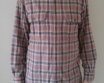 Vintage Dusty Rose Flannel
