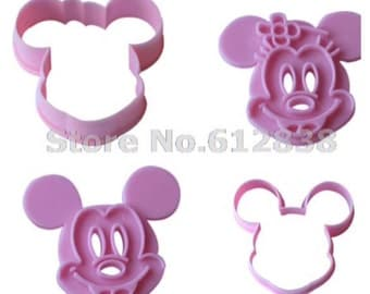 Mickey and Minnie cutter stamper set