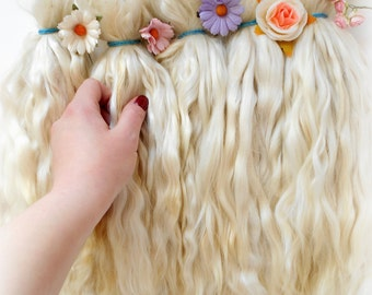 Doll Hair Mohair,Premium LONG,Goat curls for dolls, curls for doll hair, doll hair,goat locks