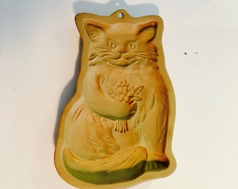 Cat cookie mold, Brown Bag cookie mold, Cookie press, Cookie art mold - 1983
