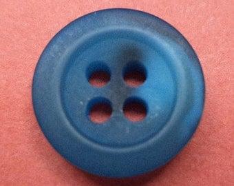 10 small blue buttons 13mm (6584) shirt buttons