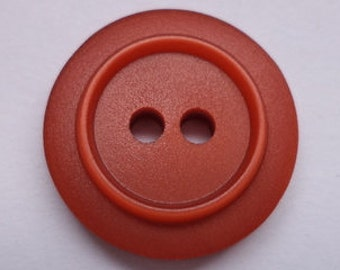 15 small dark red buttons 15mm (3415) Red
