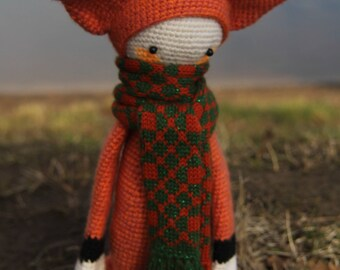 Red fox amigurumi Crochet doll Crochet animals Stuffed Crochet toys Fox plush Soft doll Children Gift Handmade doll nursery baby doll toy