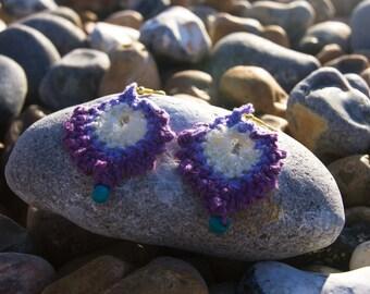 Handmade Crochet earrings. Custom made orders available.