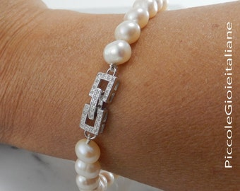Bracelet pearls cultivated bracelet silver bracelet beads bracelet Ceremony bracelet elegant bracelet bridesmaid bracelet wedding