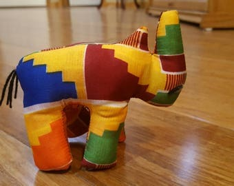 African stuffed Rhinoceros, Rhino toy