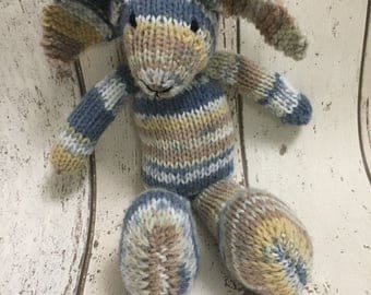 Hand Knitted CE tested small rabbit