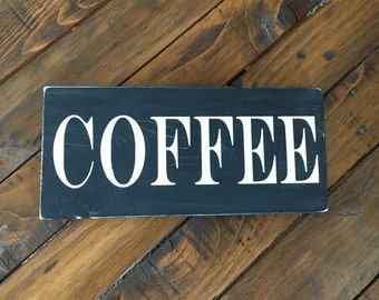 Coffee sign/ distressed/ rustic