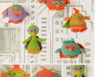 DMC Amigurumi Crochet Pattern, Masked Avenger Chicks crochet , stuffed toy, chicken crochet ,crochet pattern