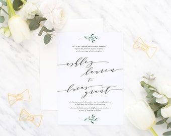 Printable Wedding Invitation Suite / Calligraphy / Wedding Invite Set - The Ashley Lauren Suite