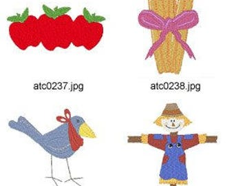 Harvest-Time ( 8 Machine Embroidery Designs from ATW ) XYZ17C