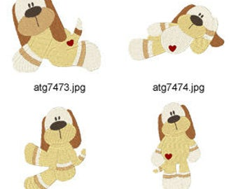Sock-Puppies ( 7 Machine Embroidery Designs from ATW ) XYZ17C