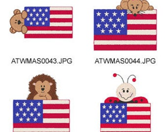 Patriotic-Peekers-2 ( 8 Machine Embroidery Designs from ATW ) XYZ17D