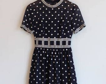 1950's Polka Dot Carlye Dress