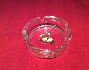 Thelwell Skipping Pony Glass Ashtray