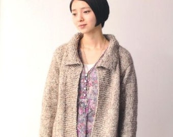 Light and Comfortable Knit Clothes Japanese Craft Book pattern knit Rod needle Reality cashmere alpaca mohair yarn
