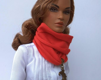 Doll scarf - Barbie clothes, Fashion Royalty doll clothes, doll accessories