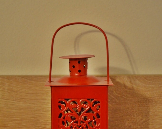 10%OFF Small vintage red Moroccan lantern / lanterns
